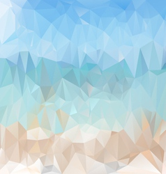 Light sea beach polygonal triangular pattern vector