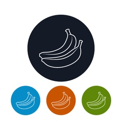 Icon banana in the contours vector