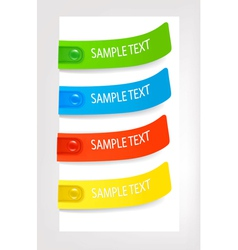 set with colored stickers vector image