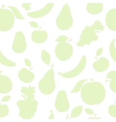 Pastel color fruit pattern vector