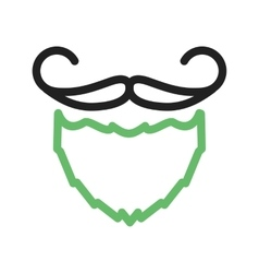 Beard and moustache i vector