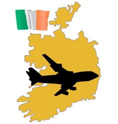 Fly me to the ireland vector