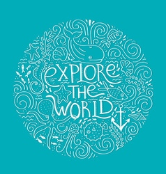 Explore the world vector