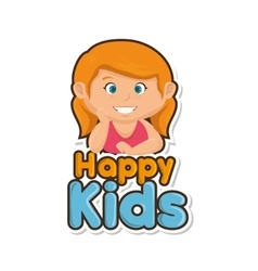 Happy little kids design vector