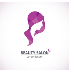 Abstract logo for a beauty salon vector image