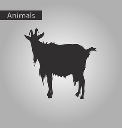black and white style icon of goat vector image