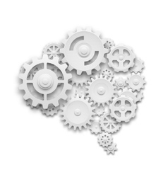 Brain made of gears vector image vector image