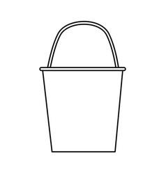 Bucket watering tool vector