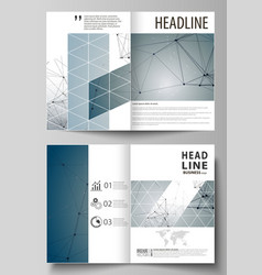 Business templates for bi fold brochure magazine vector