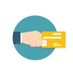 card usage icon vector image