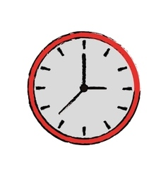 cartoon clock time watch work icon vector image