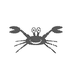 Crab sign on white vector image vector image