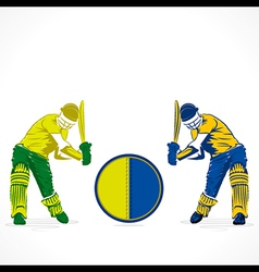 Cricket competition banner design vector
