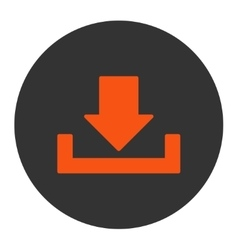 Download flat orange and gray colors round button vector