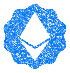 ethereum badge seal grunge icon vector image vector image