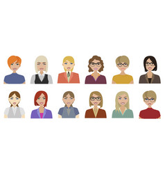 flat characters vector image vector image