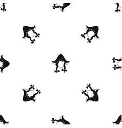 girl dutch pattern seamless black vector image vector image