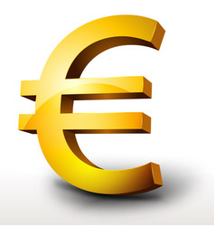 gold euro currency vector image