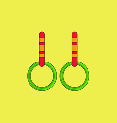 Gymnastics rings vector