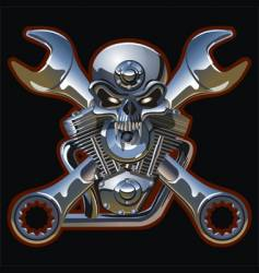 iron jolly roger vector image vector image
