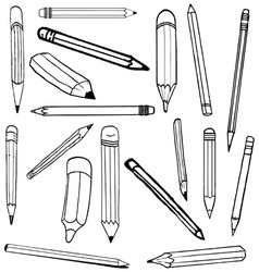 pencil sketch vector image