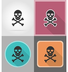 Pirate flat icons 01 vector