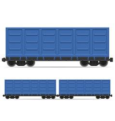 railway carriage 03 vector image vector image