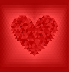 Red triangle heart vector