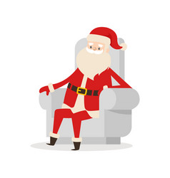 Santa claus cartoon xmas character icon vector