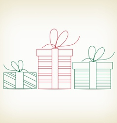 set of christmas gifts sketches for design vector image