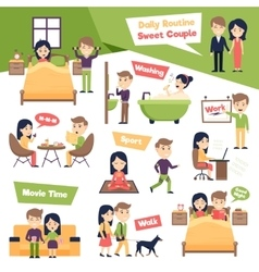 Set of daily people vector