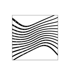 Square with black curved lines vector image