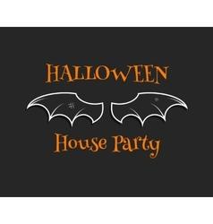 Stylish unique bat background happy halloween vector