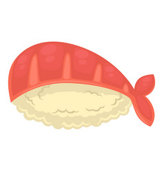 Sushi with rice and royal shrimp isolated vector