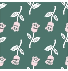 Vintage Seamless pattern roses vector image vector image