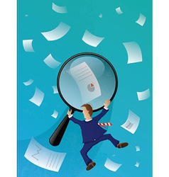 Business Papers Seach vector image