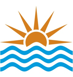 stylized of sunset and sunrise vector image