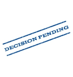 Decision pending watermark stamp vector