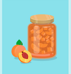 peach jam vector image