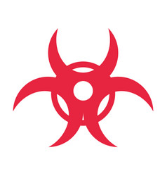 biohazard risk sign vector image