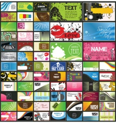 set of 66 business cards vector image