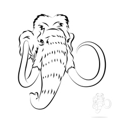 Stylized mammoth head vector