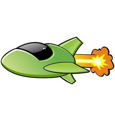 Green spaceship vector