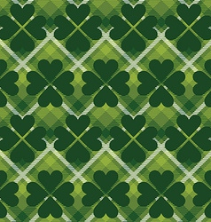 Saint patricks day tartan seamless pattern vector