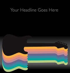 Rainbow guitar vector