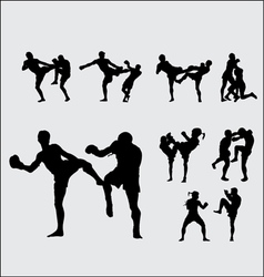Muay thai thai boxing 1 vector