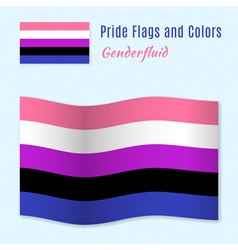 Genderfluid pride flag with correct color scheme vector
