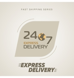 Express delivery symbols vector