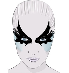 fashion makeup girl face mask vector image