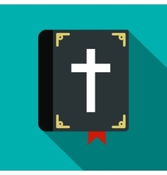Bible single flat icon vector